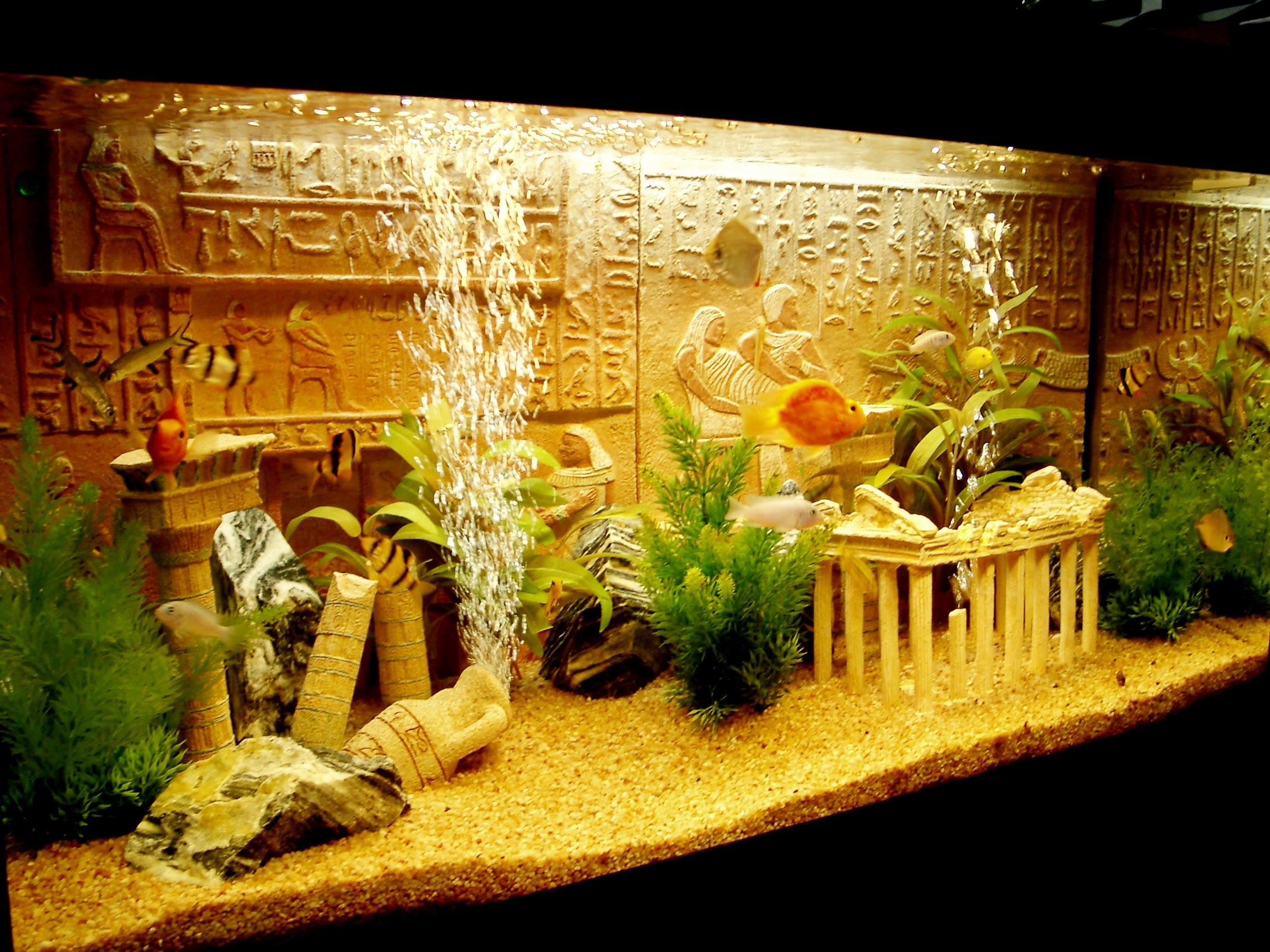 Украшение для аквариума своими руками