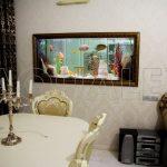 Аквариум морской сквозной в стене в Молдове